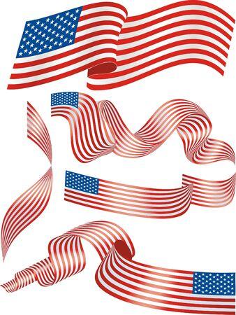spangled: USA flags