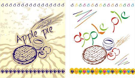 apple pie: Apple pie labels