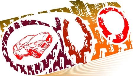 copy machine: Auto drive Illustration