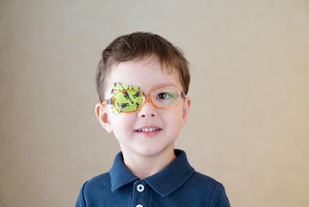 Augenklappe Standard-Bild
