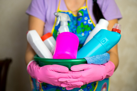 household chemicals Stock Photo