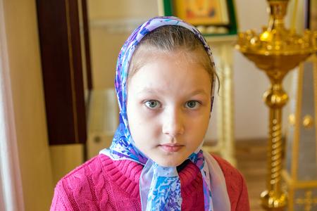 The girl in the Orthodox Church