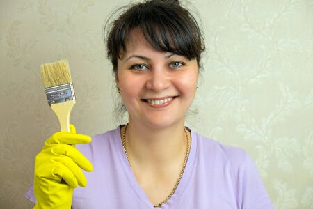 Girl with paint brush