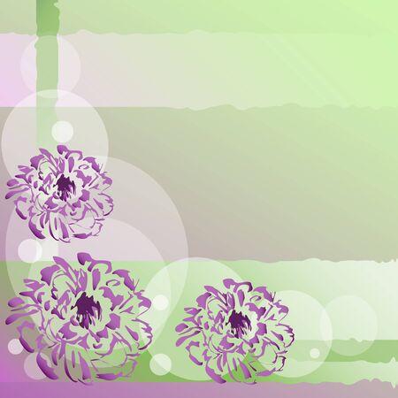 verde y morado: luz de fondo morado verde con flores Vectores