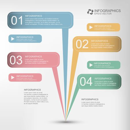minimal style: Modern Design Minimal style infographic, numbered banners, vector