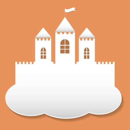 fantacy: White paper  on cloud, vector illustration Illustration
