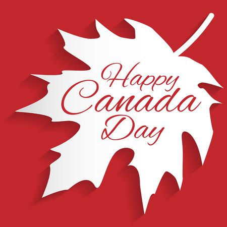 幸せカナダ日カード ベクトル形式。  イラスト・ベクター素材