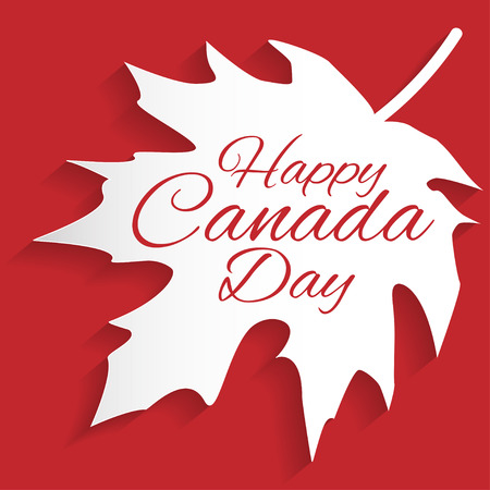 canada day: Happy Canada Day card in vector format.