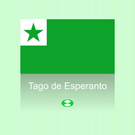 lingual: Vector illustration of esperanto day with flag