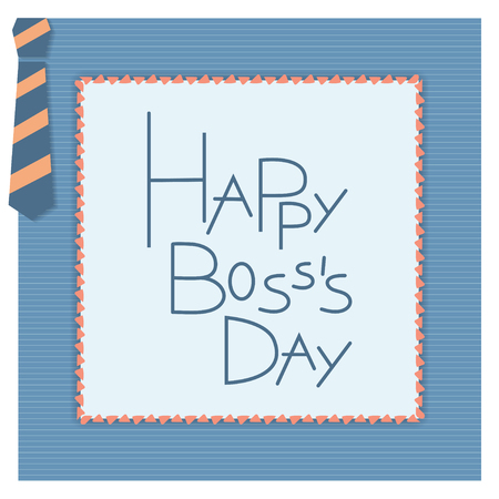 s tie: Happy boss day invitation card. Vector background. 16 october