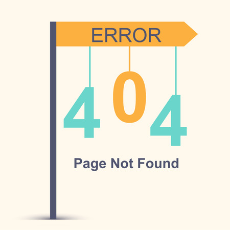 found: Page not found, 404 error. Vector illustration