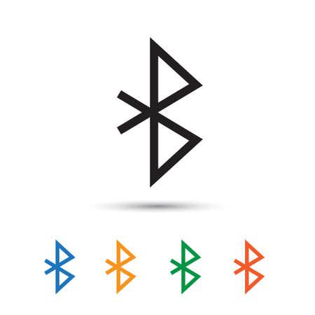 bluetooth: Bluetooth icon isolated on white. Vector illustration Illustration