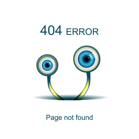 trouv�: Page not found, 404 error with funny green monster