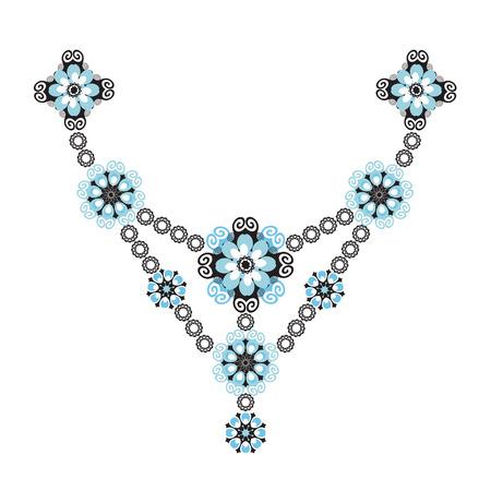 patrones de flores: Patrón decorativo floral. Ilustración del vector aislado en blanco