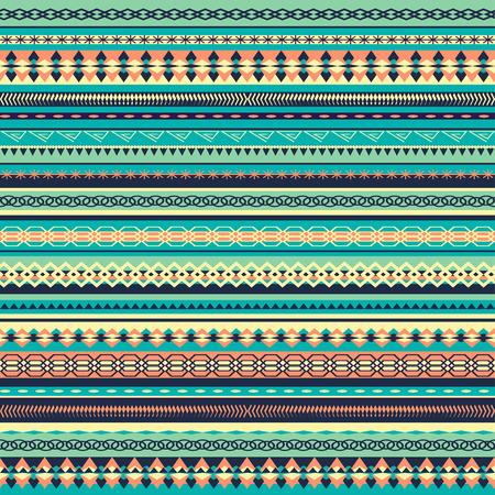 papel tapiz turquesa: diseño del patrón colorido étnica sin fisuras con la ilustración strips.Vector vertical. fondo de la turquesa
