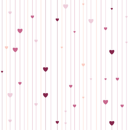 minimalistic: Hearts lines texture. Stripped geometric seamless pattern. Modern repeating stylish texture. Flat minimalistic texture. Graphic stripes with vertical direction.  Vector background