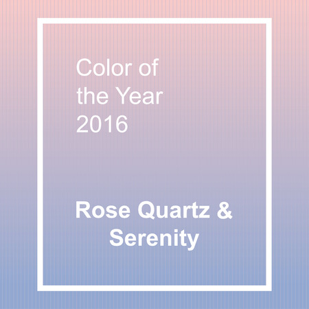 rose quartz: Rose Quartz and Serenity - trendy fashion color of the year 2016. Abstract background with frame