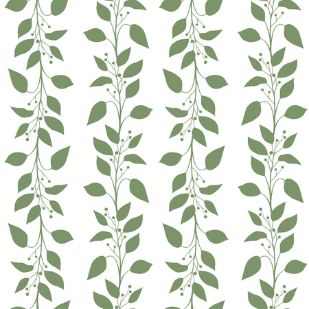 Seamless pattern branches and leaves of Camphor laurel. Floral background. Vector illustration