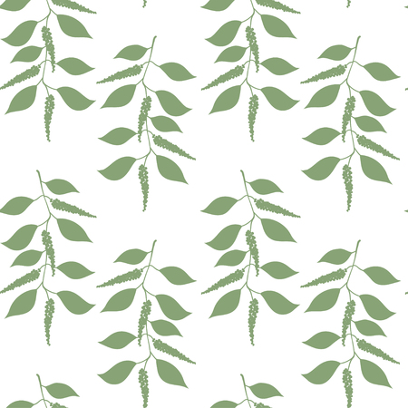 black pepper: Seamless pattern berries and leaves of Black pepper. Floral background. Vector illustration.
