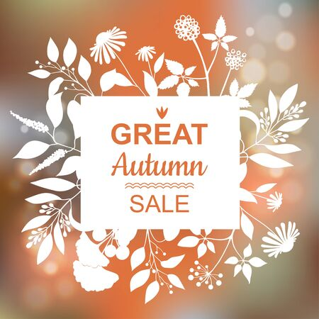 great: Great Autumn Sale Banner.