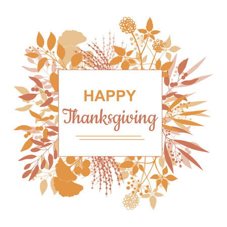 Flat design style Happy Thanksgiving card template