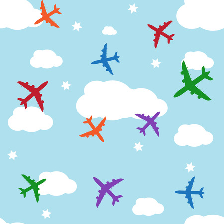 jets: Seamless vector background with jets