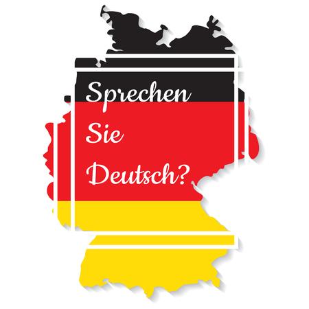 to do: Do you speak German. Vector illustration