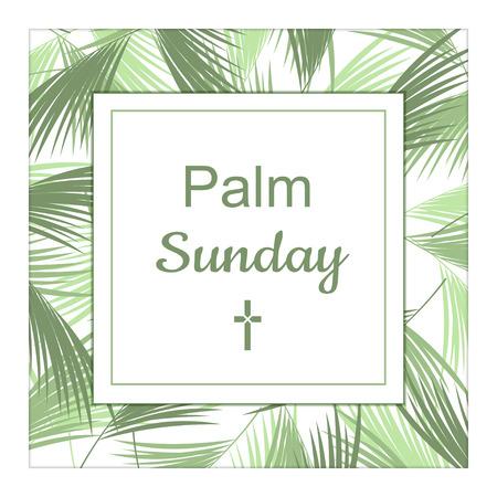 gospels: Palm Sunday banner as religious holidays background