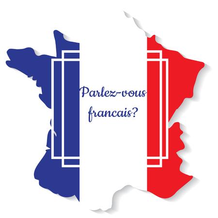 Do you speak French. Vector illustration