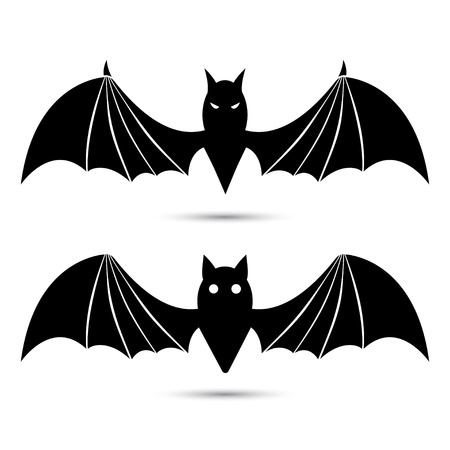 Vector silhouettes of bats