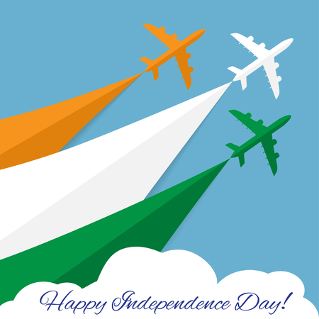 Air show in India. Happy Independence day