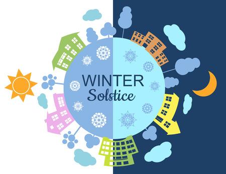 Ilustración del solsticio de invierno