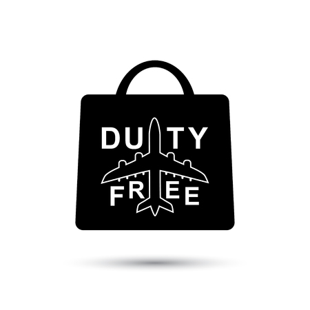 Vector illustration duty free paper bag