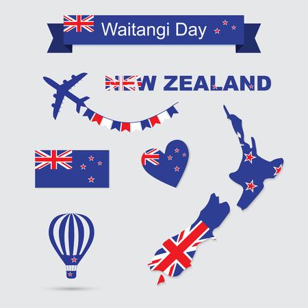 New Zealand icons Ilustrace