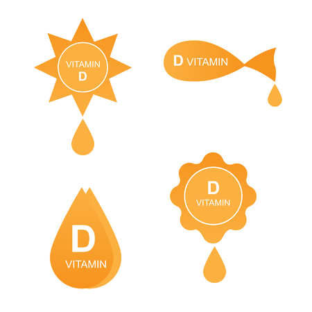 Vitamin D icons set