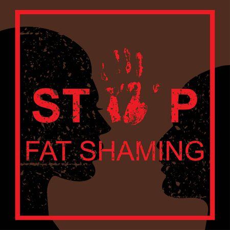 Stop fat shaming concept