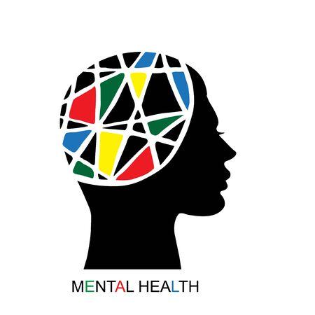 Mental health concept Stock Illustratie