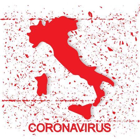 Coronavirus in Italy concept Ilustração