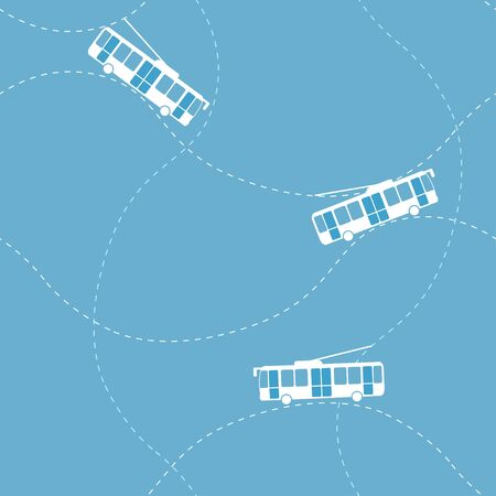 Seamless pattern with trolleybus