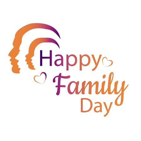 Happy Family Day vector illustration Illustration