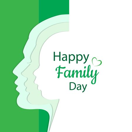Happy Family Day card vector illustration Illustration