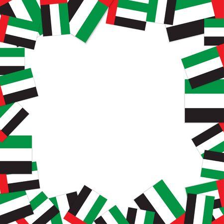 UAE flag frame. United Arab Emirates symbol vector Illustration Ilustração