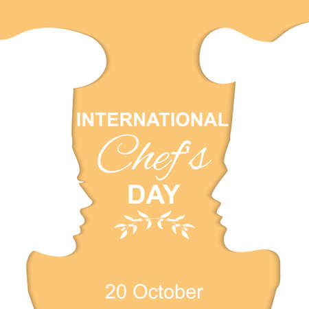 International Chefs Day poster concept vector illustration