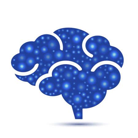 Brain icon  illustration
