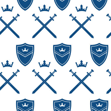 King seamless pattern, vector illustration. 向量圖像