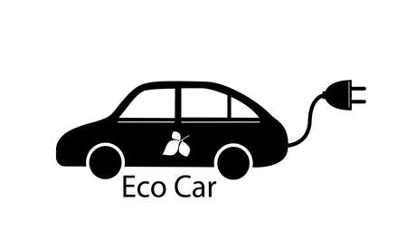 Vector illustration of electric car. Eco car