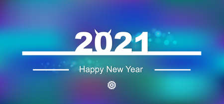 Happy New year concept vector .Greeting Illustration