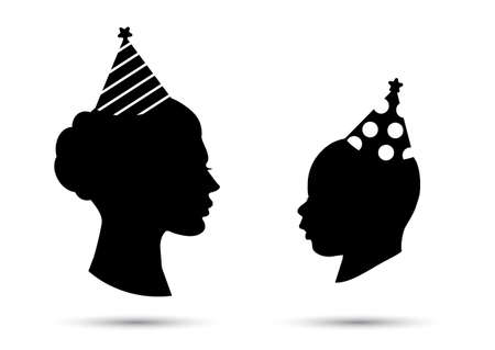 Party hat cone on the head silhouette icon