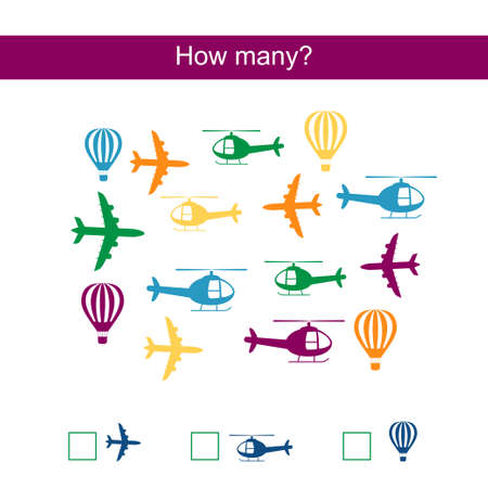 Count how many airplanes and write result