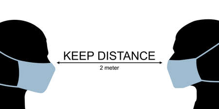 Keep your social distance concept vector illustration